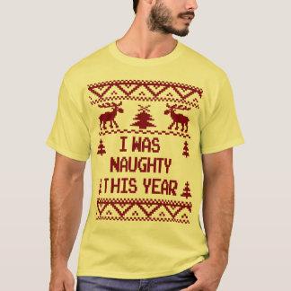 Jag var stygg denna fula jultröja för året t shirts