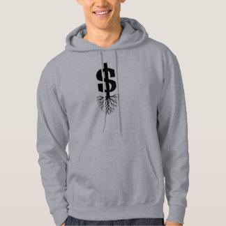 Jag växer pengar sweatshirt med luva