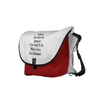 Jag vet att du hatar mig därför att jag får betal kurir väska
