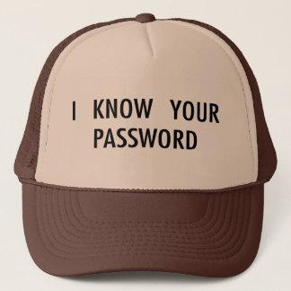 Jag vet ditt lösenord keps