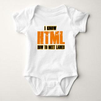 Jag vet HTML - hur man möter damer Tee Shirt