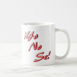Jag vet inte muggen kaffemugg