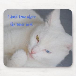 Jag vet inte, var musen gick, vitkatten mus matta
