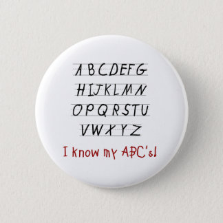 Jag vet min ABCs Standard Knapp Rund 5.7 Cm