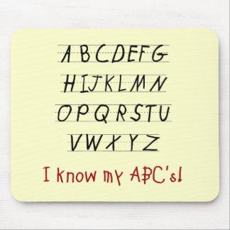 Jag vet min ABCs Tshirts och gåvor Musmatta