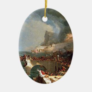 Jaga av välde: Förstörelse vid den Thomas colen Julgransprydnad Keramik