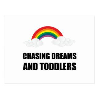 Jaga drömmar och småbarn vykort