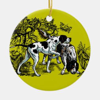 jaga hundar julgransprydnad keramik