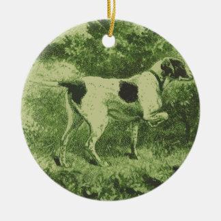 Jaga hunden julgransprydnad keramik