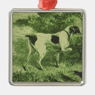 Jaga hunden julgransprydnad metall