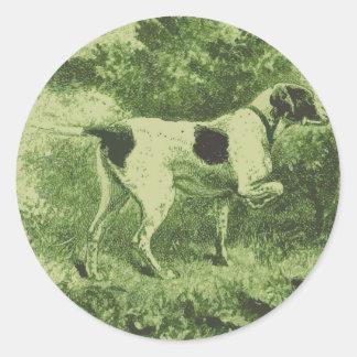 Jaga hunden runt klistermärke