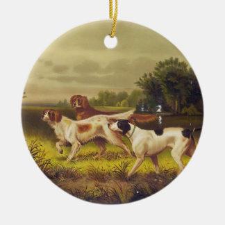 Jaga hundsporten i Juli vid dammsugare Julgransprydnad Keramik