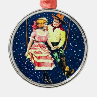 Jaga månen julgransprydnad metall
