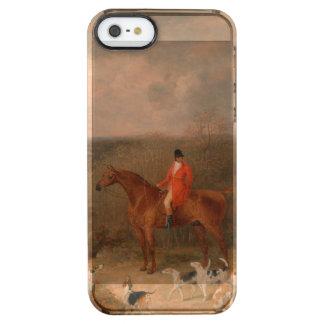 Jaga med hundar och hästberömdoljemålning clear iPhone SE/5/5s skal