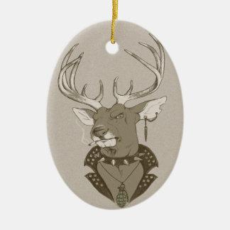 Jaga säsong julgransprydnad keramik