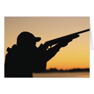 Jägare och vapen hälsningskort