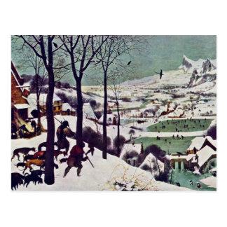 Jägarna i snön, vid Bruegel D. Ä. Pieter Vykort