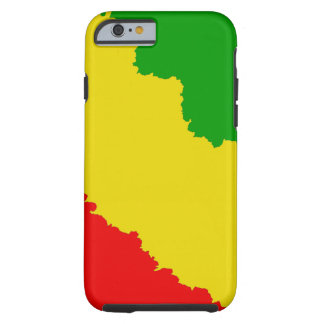 Jagged Rasta randar Tough iPhone 6 Skal