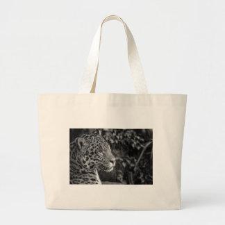 Jaguar i svartvitt jumbo tygkasse