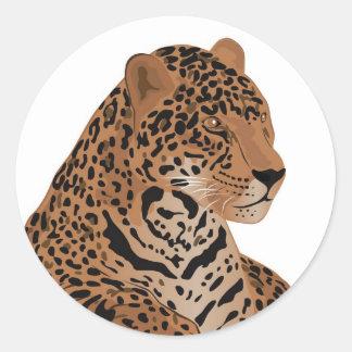jaguar runt klistermärke