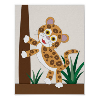 Jaguarbarnkammarekonst Poster