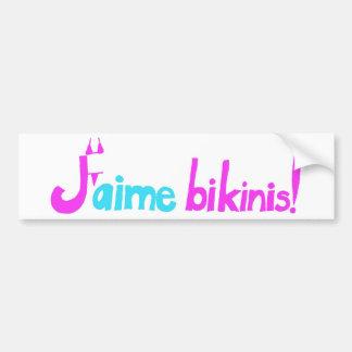 J'aime bikinier! bildekal