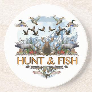 Jakt och fisk underlägg sandsten