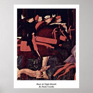 Jakten på natten specificerar vid Paolo Uccello Poster