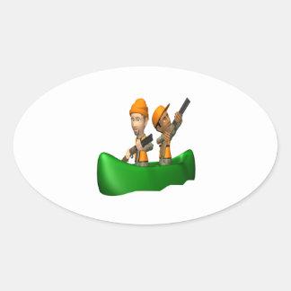 Jaktfartyg Ovala Klistermärken
