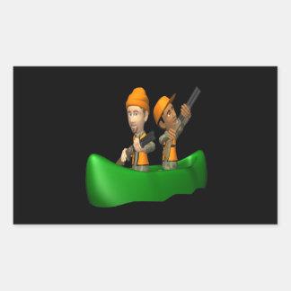 Jaktfartyg Retangel Klistermärke