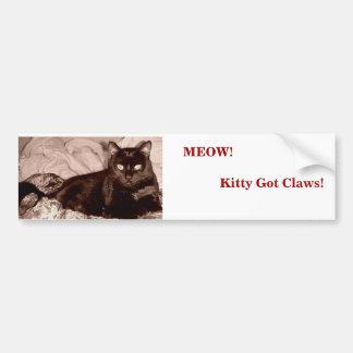 Jama! Kattunge fick klor!                      … Bildekal