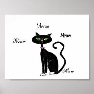 Jama Retro kattunge Poster