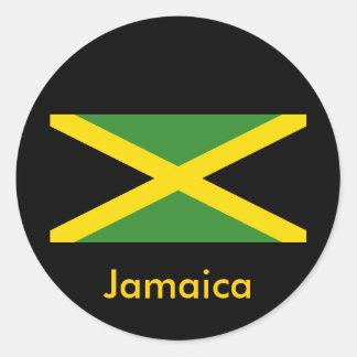 Jamaica designer runt klistermärke