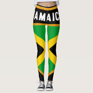 Jamaica flagga leggings