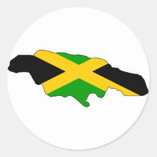 Jamaica flaggakarta runt klistermärke