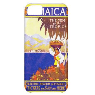 Jamaica Gem av tropikernavintage resoraffischen iPhone 5C Fodral