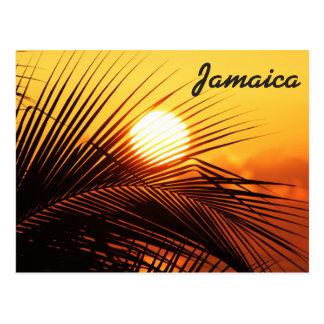 Jamaica solnedgångvykort vykort
