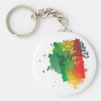 Jamaica Zion lejona Keychain Rund Nyckelring