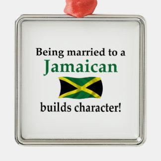 Jamaikanen bygger teckenet julgransprydnad metall