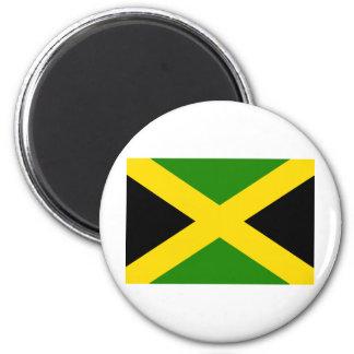 Jamaikansk flagga magnet rund 5.7 cm