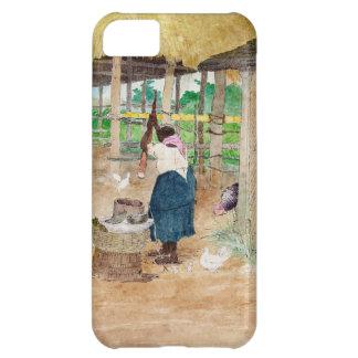Jamaikansk kvinnastrykCassava på lantgård iPhone 5C Fodral