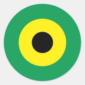 Jamaikansk modrundaklistermärke 2 runt klistermärke