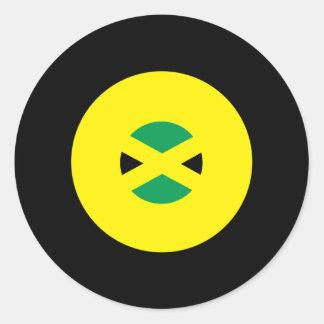 Jamaikansk modrundaklistermärke runt klistermärke