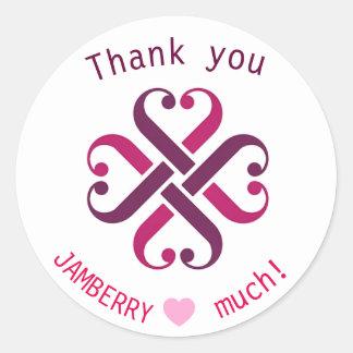 Jamberry tackar dig brevskickandekuvertsälar runt klistermärke