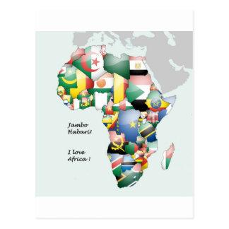 Jambo Habari afrika! Jag älskar afrika Vykort