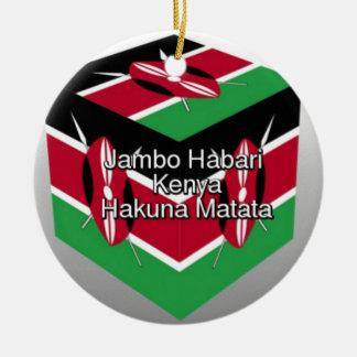 Jambo Habari! Kenya Hakuna Matata Julgransprydnad Keramik