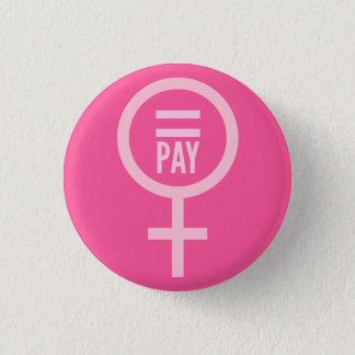 Jämbördig lön för kvinnor mini knapp rund 3.2 cm