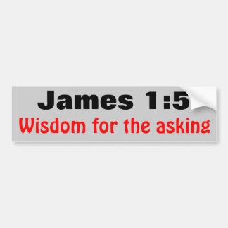 James 1:5vishet för fråga bildekal