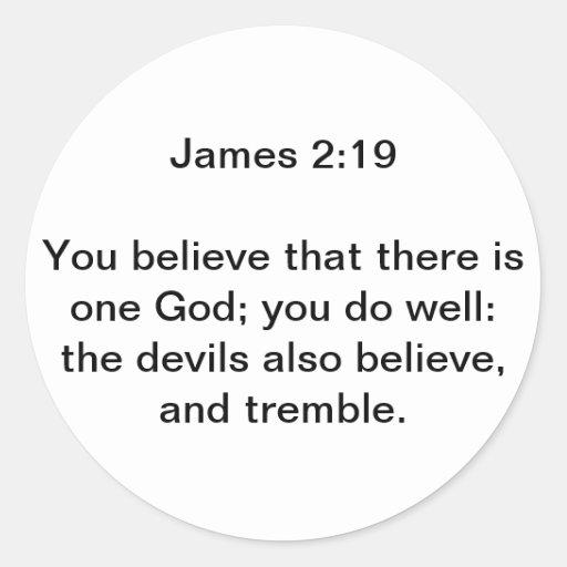 James 2:19 klistermärke