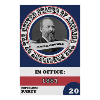 James A. Garfield presidents- historia Poster